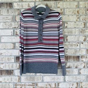 Eddie Bauer striped sweater size L